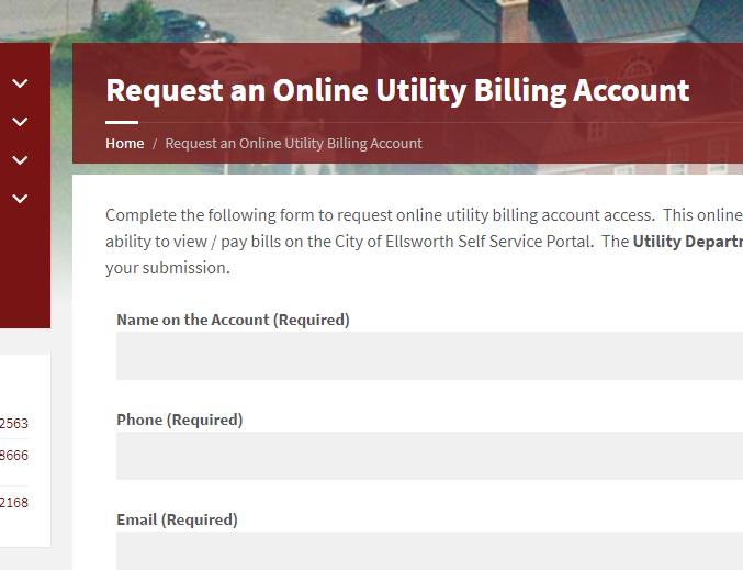 Online Utility Billing - City of Ellsworth, Maine